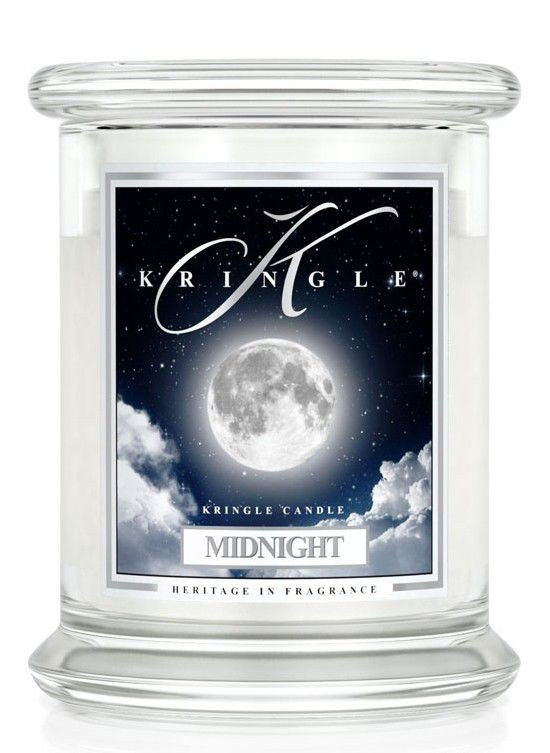 Medium 2 Wick Classic Apothecary Jar Kringle Candle Pełnia Księżyca Midnight