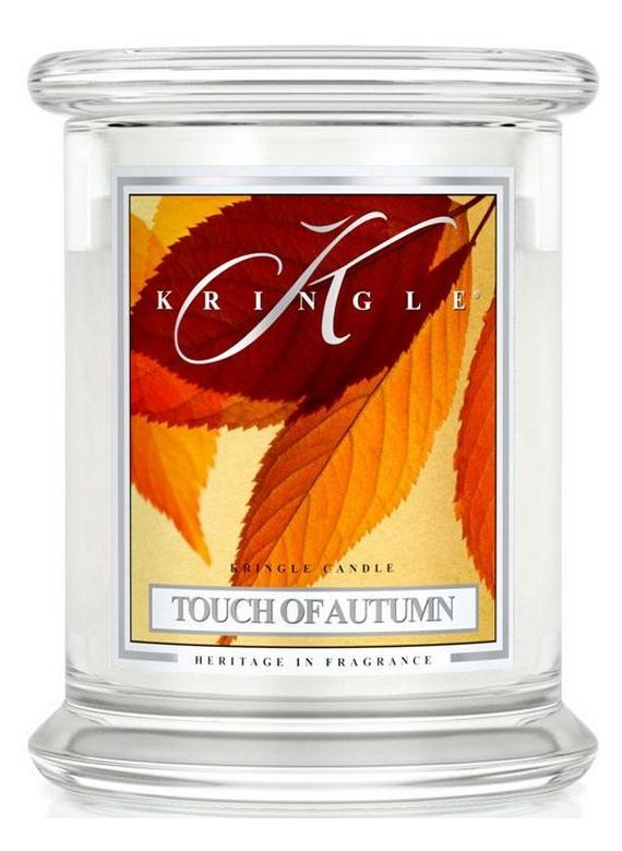 Medium 2 wick Classic Apothecary Jar Kringle Candle Touch of  Autumn