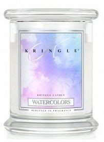 Medium Classic Apothecary Jar Kringle Candle Akwarele Watercolours