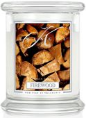 Medium 2 wick Classic Apothecary Jar Kringle Candle  Drewno do kominka Firewood